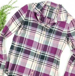 The North Face Purple Flannel